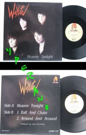 "WAYSTED: Heaven Tonight 12"" Check video"