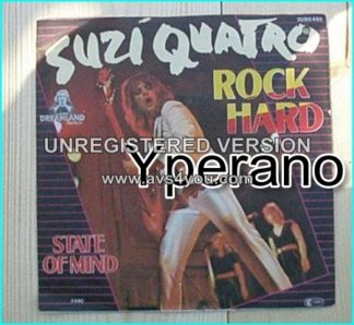 "SUZI QUATRO: Rock Hard 7"" + State of Mind [Glam rock queen]. Check video!"