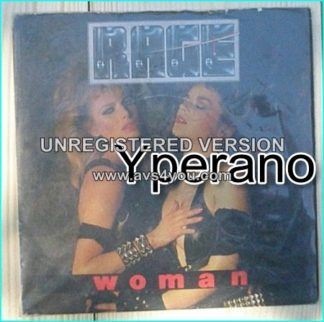 """RAGE: Women 7"""" + Ready To Go (N.W.O.B.H.M). Provoking picture sleeve / cover ( two female models in intimate contact)"""