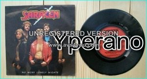 "SARACEN: No More Lonely Nights 7"" + Rock of Ages. Great N.W.O.B.H.M with melody. 1981 RARE. !"