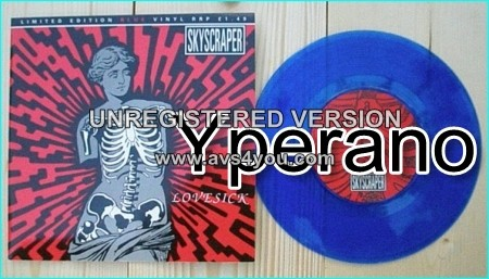 """SKYSCRAPER: Lovesick 7"""" + Safer Ground (Both exclusive unreleased songs) Limited Edition Blue vinyl] Check video!"""