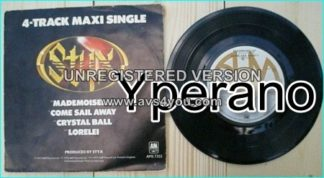 "STYX: 4-track maxi single 7"" Mademoiselle- Come Sail Away - crystal Ball - lorelei 1977. Check videos + the story behind C.S.A"