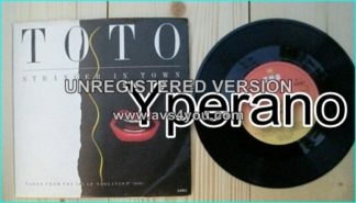 "TOTO: Stranger In Town 7"" + Change of Heart. Check video."