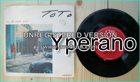 """TOTO: I'll Be over you (Commercial version) 7"""" + I'll Be over you (DJ Cueing Version) Check video."""