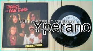 "TYGERS OF PAN TANG: Rendezvous 7"" + Life of crime. MCA 1982 Black vinyl. Killer B side!! s."