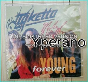 "TYKETTO: Forever Young (edit) 7"" [Their biggest hit! Fantastic. Check video. SIGNED / Autographed]"