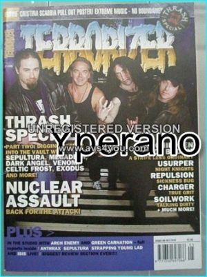 TERRORIZER 109. MAY '03 Thrash Metal Special. MINT CONDITION.