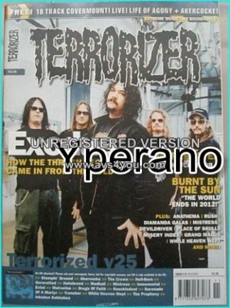 TERRORIZER 115 DEC 03 EXODUS - GOREROTTED - RUSH -DIAMANDA GALAS -ANATHEMA. MINT CONDITION.