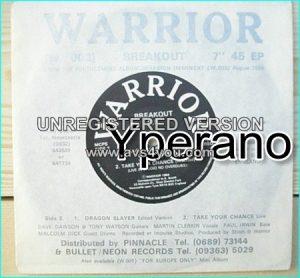 """WARRIOR: Breakout E.P 7"""" N.W.O.B.H.M Rare private single. Check samples"""