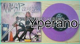 "W.A.S.P: Mean Man 7"" [Special Means Test Pack with Coloured PURPLE Vinyl Ltd edition UK + Jethro Tull cover. Check video"