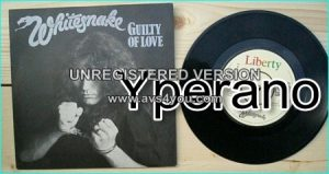 """WHITESNAKE: Guilty of Love 7"""" + Gambler. (BP420) 1983 - United Kingdom [Great cover with Coverdale in handcuffs!] Check video."""