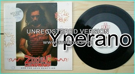"ZODIAC MINDWARP AND THE LOVE REACTION: Planet Girl 7"" + Dog face driver -PROMO. Check video"