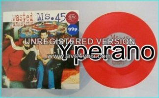 """MS.45: Wasted 7"""" + Junkstruck [Special Red vinyl edition. Produced By Steve Harris]"""