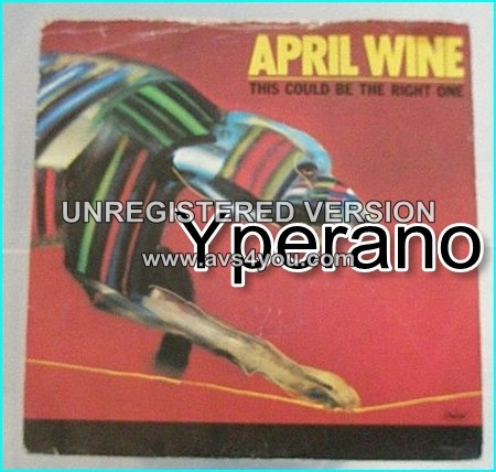 """APRIL WINE: This Could Be The Right One. CLASSIC Hard rock 7"""". B side song is unavailable elsewhere. Check video"""