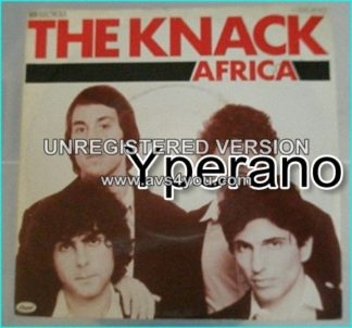 "The KNACK Africa 7"" Rare German 7"" ."