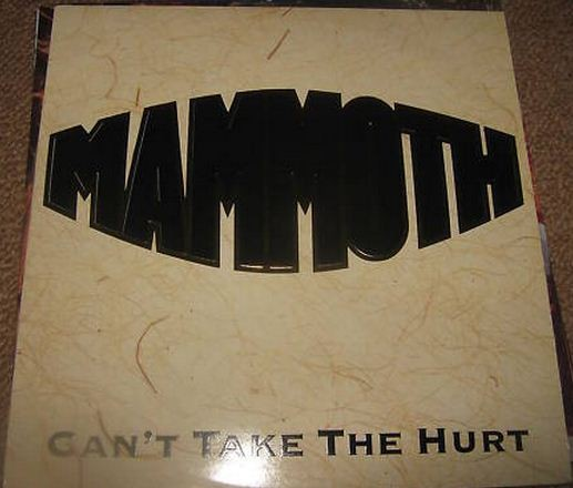 "MAMMOTH: Can't take the hurt 12"". embroidered, embossed, raised cover All Star line up of fat N.W.O.B.H.M legends s"