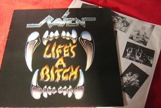 RAVEN: Life's a bitch LP + inner with pics and lyrics. s.