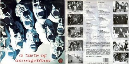 A TASTE OF ARMAGEDDON: Rare 1989 compilation LP. Best underground UK Thrash / Speed Metal.