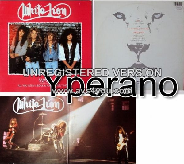"""WHITE LION: Wait 12"""" Gatefold (Red colour) UK ONLY!! Wait (Extended Version) and 2 live versions. Super wow! Check videos!!"""