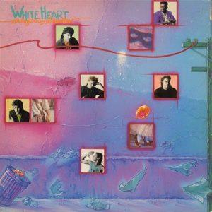 WHITE HEART: Emergency Broadcast LP + inner with lyrics. s.