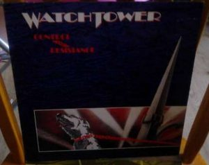 WATCHTOWER: Control and resistance LP + inner. Absolutely astounding progressive metal / thrash. + video.
