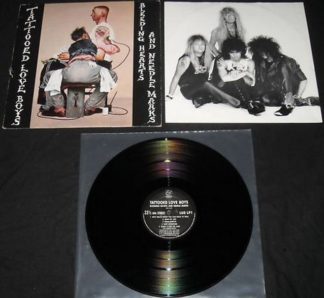 TATTOOED LOVE BOYS: Bleeding Hearts and Needles Marks LP. rare UK Glam/Sleaze. CJ from THE WILDHEARTS. Check videos.