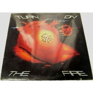 SYE: Turn On the Fire LP + inner w. lyrics & pictures. Masterpiece a la Accept! Roadrunner Records 1985. .