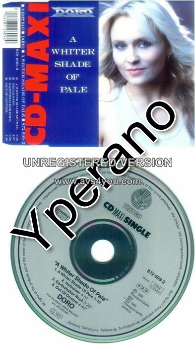 Doro A Whiter Shade Of Pale Cd Single Rare 4 Songs