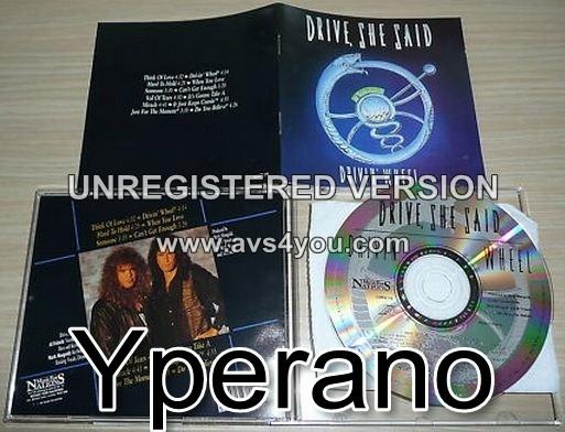 DRIVE SHE SAID: Drivin' Wheel CD. Original 1st Press MFN 1991. Killer A.O.R. incl. Bad Company cover! Check video!