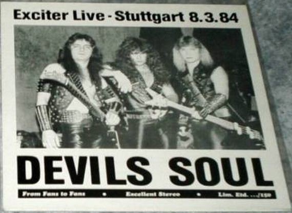 EXCITER: Devils Soul CDR. Live in Stuttgart Germany 1984 -85. Free £0 for orders of £150+