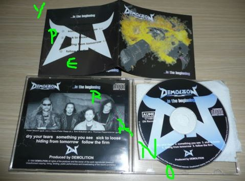 DEMOLITION: -in the beginning CD RARE, in mint condition. Top class Thrash Metal.