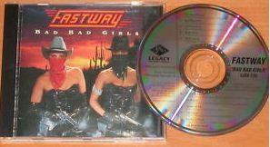 """FASTWAY: Bad Bad Girls CD PROMO. Motorhead guitarist """"Fast"""" Eddie Clarke + members of Girlschool. + video"""