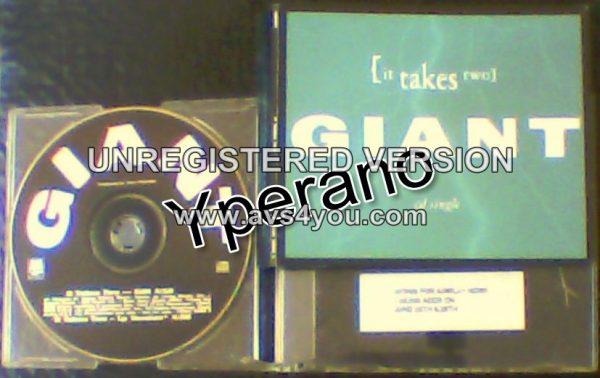 GIANT: It takes two CD PROMO Only RARE U.S (edit) Killer ballad!