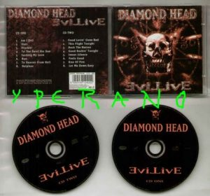 DIAMOND HEAD: Evil Live 2 C.d.set CD Live At The National Bowl 1993 + 5 Previously Unreleased Covers.
