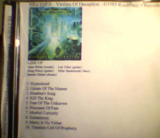 HEATHEN: Victims of Deception CDR Old school speed / thrash Metal. Rainbow cover! Free £0 for orders of £28+