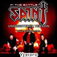 SAINT: In the Battle CD PROMO (demo). Signed. Christian alternative to Judas Priest. 17 songs! Free £0 for orders of £58+