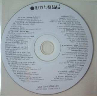 BOSS TUNEAGE: 2004 Sampler compilation 25 songs CD [ British Independent Punk record label] Free for orders of £28+