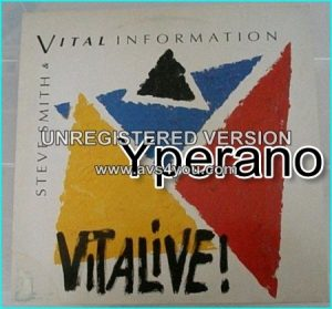 Steve Smith & Vital Information: Vitalive! LP. Killer Jazz Fusion. Journey / The Storm drummer!!