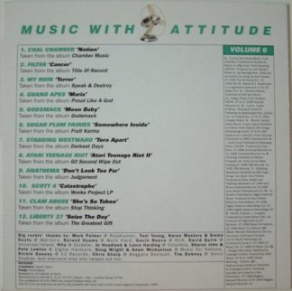 MUSIC WITH ATTITUDE Volume 6 - 12 song Metal compilation CD FREE £0 For orders of £23+
