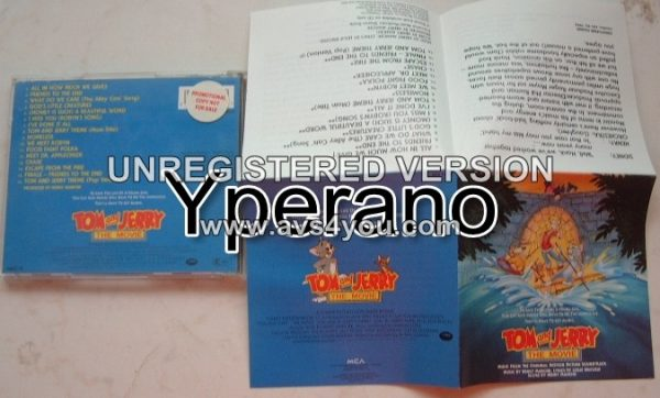 TOM AND JERRY: The movie (soundtrack) PROMO CD