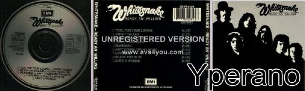 WHITESNAKE Ready An' Willing CD. EMI / Fame edition 1989 (RARE). Check video