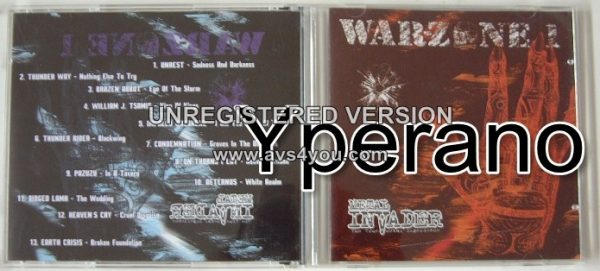 WARZONE 1: compilation CD Free for orders of £25+ Exclusive song by William J Tsamis / Destroyer from Warlord + Lordian Guard