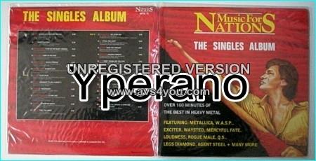 MUSIC FOR NATIONS: The Singles Album 2LP set 1986. Signed / Autographed + protective doule plastic jacket. 23 tracks Double LP