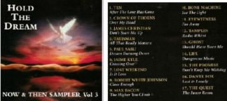 Hold the dream Now & Then Sampler Vol 3 CD. s. Crown of Thorns, James Christian, Talisman, Sabu, Jaime Kyle-