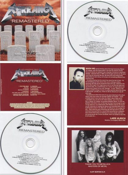 Remastered: Metallica's Master Of Puppets Revisited CD. Machine Head etc. s