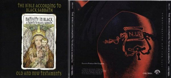 THE BIBLE ACCORDING TO BLACK SABBATH 2CD Promo USA 4 page booklet. Ultra RARE!