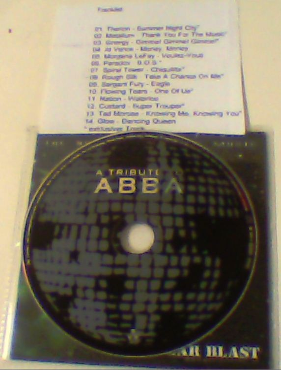 A Tribute to ABBA PROMO CD.