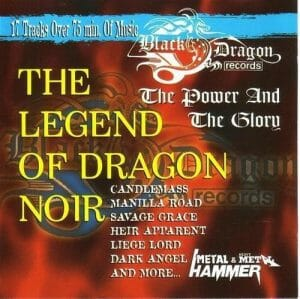 The Legend Of Dragon Noir CD PROMO BLACK DRAGON RECORDS. Candlemass, Heir Apparent, Dark Angel, Savage Grace, etc. s