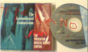 The International Commission For The Prevention Of Musical Border Control CD PROMO veraBra Records RARE!!