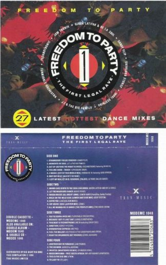 Freedom To Party 1 - The First Legal Rave 2Tape. 27 great dance songs incl. great The Beatles cover